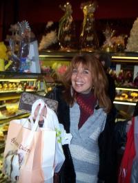 Sandy in bakery