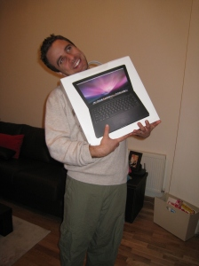 Bryan with new Mac