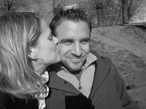 Yael kissing Bryan
