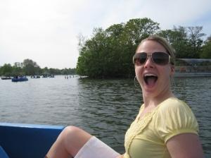 Yael paddle boats Hyde Park