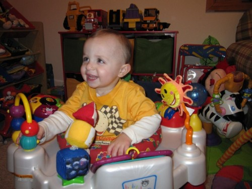 Aidan and his toys